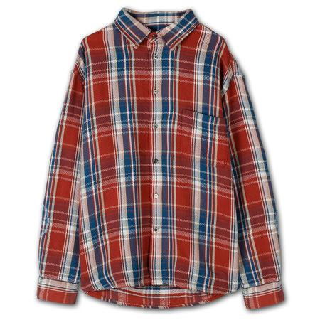 Awake NY Heavyweight Barbed Wire Back Flannel - Rose