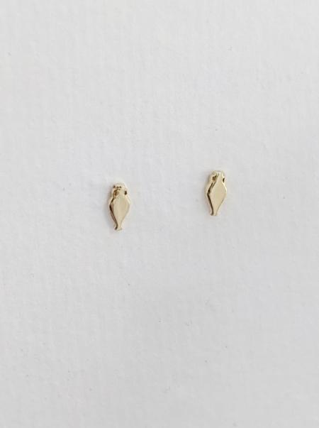 MERAKI BOUTIQUE Little Amphor Stud Earrings - Gold