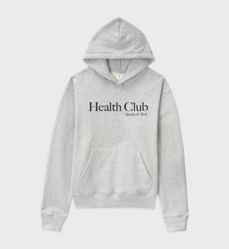 Sporty & Rich Health Club Hoodie - Heather Grey