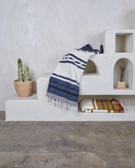 Nipomo + Esby Recycled Blanket - Indigo Stripe