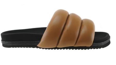 Roam Cognac Super Puff sandals - Black/Brown