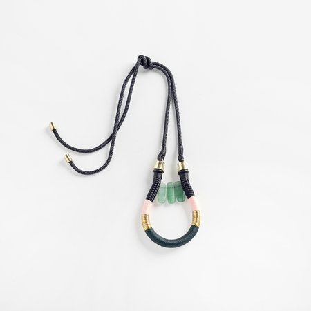 PICHULIK Fowler Pendant Necklace - Black Green