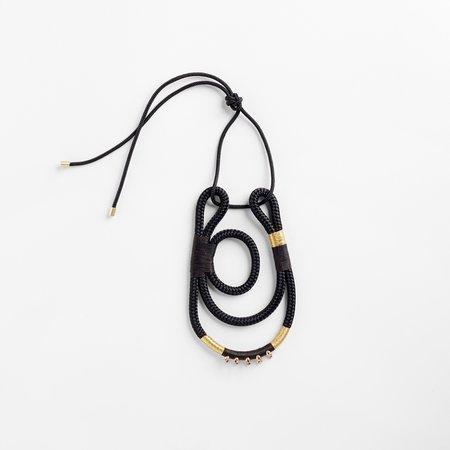 PICHULIK Geisha Curve Necklace - Black Gold
