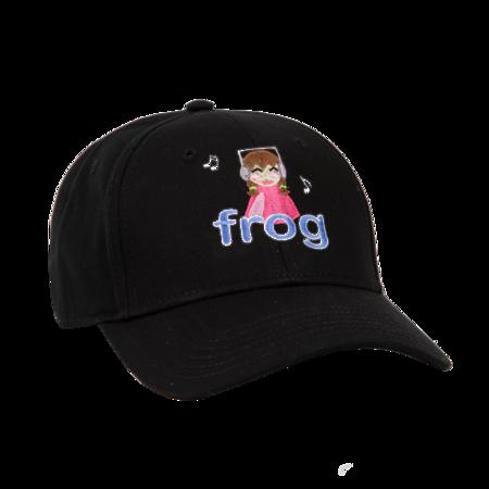 Frog I'm Not Listening Hat - Black