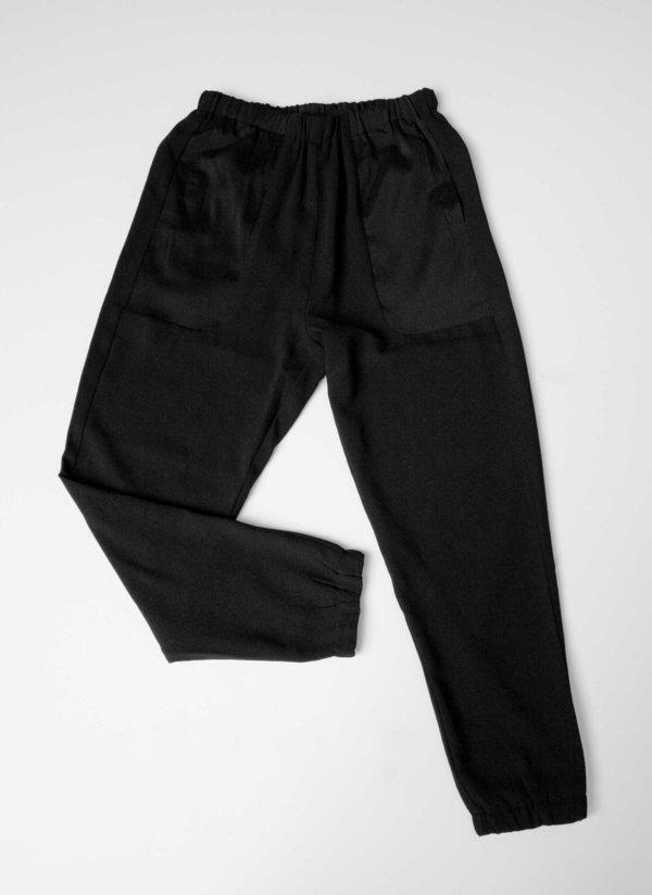 Berenik PANTS - ELASTIC BLACK PLAIN