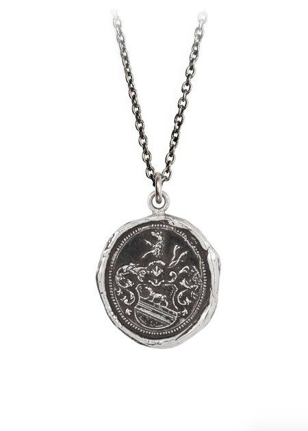 "Pyrrha 18"" Heart of the Wolf Talisman - Sterling Silver"