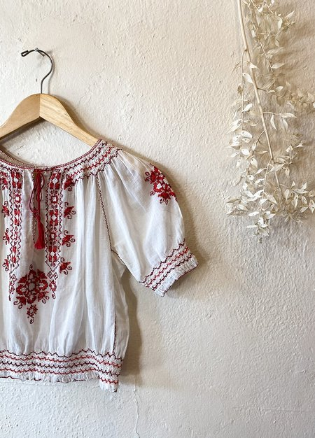 Vintage 1930's Hungarian Embroidered Blouse