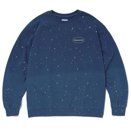 ThisIsNeverThat Dip Dyed Crewneck Sweater - Dark Blue