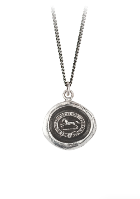 Pyrrha Running Horse Talisman Necklace - Silver