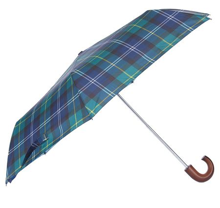 Barbour Tartan Mini Umbrella