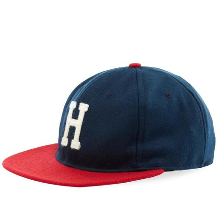 EBBETS FIELD FLANNELS VINTAGE HARTFORD CHIEFS 1951 CAP - NAVY/RED