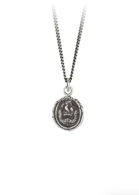 Pyrrha Courage to the Last Talisman necklace - Sterling Silver