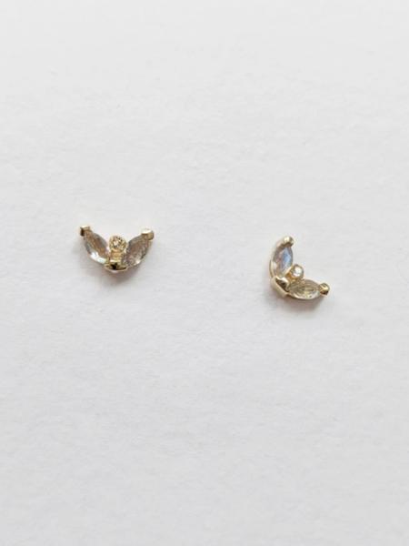 Little Gold Labradorite Mari Studs