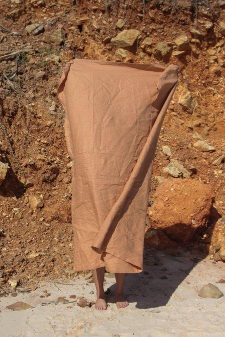 Hakea Linen Beach Blanket - Dusty Terracotta