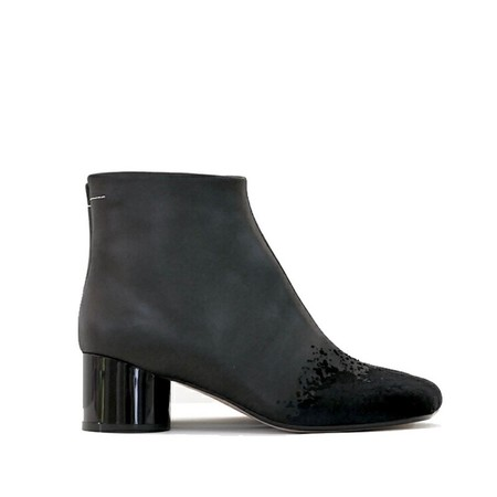 MM6 decorated toe bootie - black