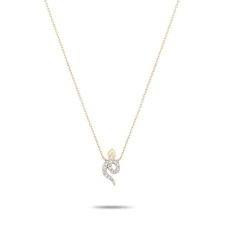 Adina Reyter Tiny Pavé Snake Necklace