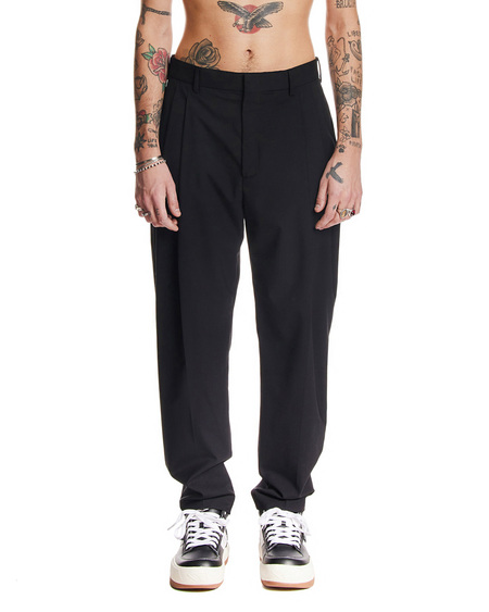 MSGM Tailored Wool Trousers - Black