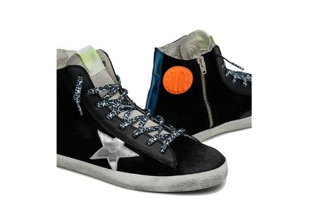 Golden Goose Francy Suede Upper Laminated Star Heel Sneakers