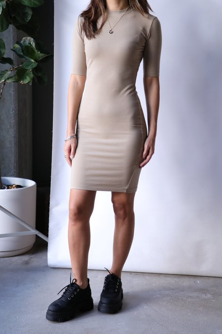 John Elliott Stretch Mockneck Dress - Dusk