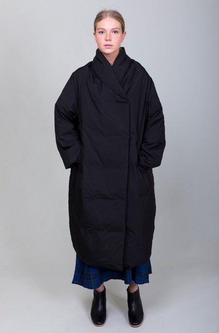 Mizuiro Down Gown Coat - Black