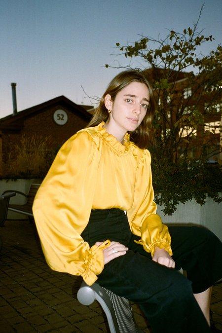 Lisa Says Gah Romi Long Sleeve Top - Marigold