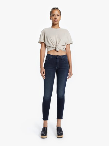 Mother Denim The Looker Ankle Fray Coffee Jeans - Tea or Me