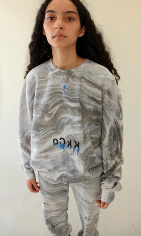 KkCo Drip Crewneck Sweatshirt - Marble Dye