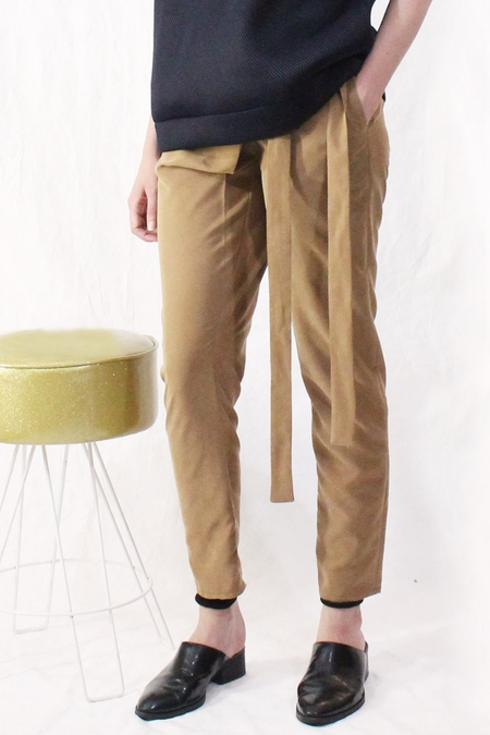 House of 950 fold over pants - Brown