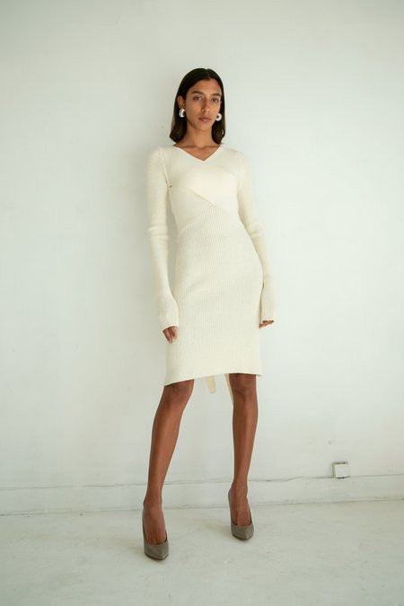 The Line By K Kane Knit Dress - Cream
