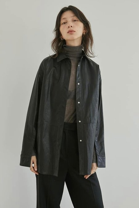 Cest la vie Vegan Leather Oversized Shirts