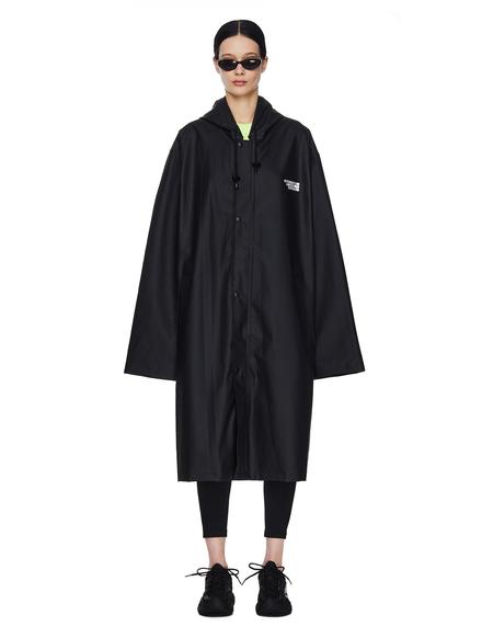 Vetements Limited Edition Printed Raincoat - Black