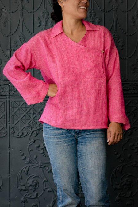 Pamela Mayer Fold Top - Hot Pink