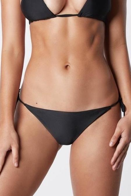 IT'S NOW COOL Side Tie String Bikini Bottom - Black