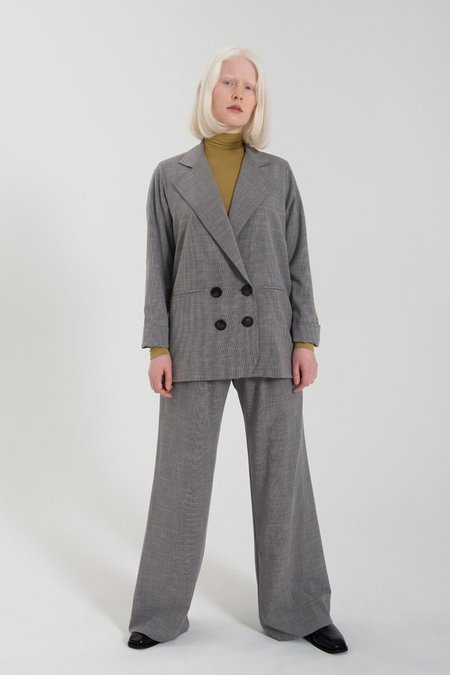 Limb The Label Relaxed Blazer - Grey Mini Houndstooth