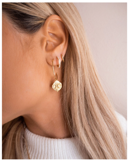 Five and Two Maddox Earring - Gold Plated