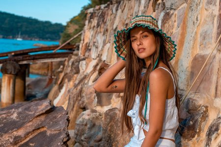 Lorna Murray Beach House Capri Hat - Multi