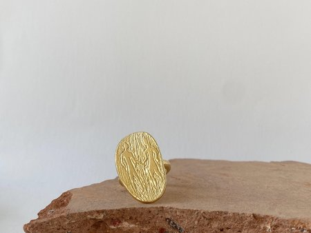 Mercurial NYC Partners or Lovers Ring - 14k gold plate