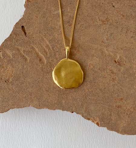 Mercurial NYC Petra Medallion necklace - 14k gold plate