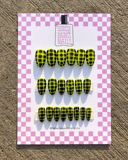 Rebecca Paints Nails Press Ons Nail - Slytherin