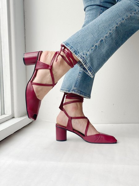 Reike Nen Open Toe Strap Sandals - Wine