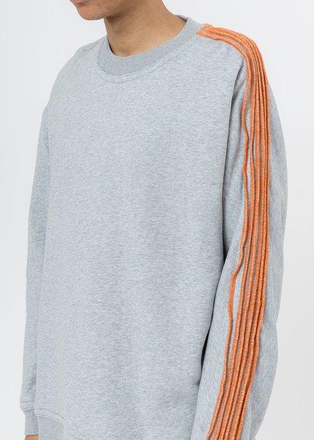 CORNERSTONE Pinched Seams Sweater - Grey