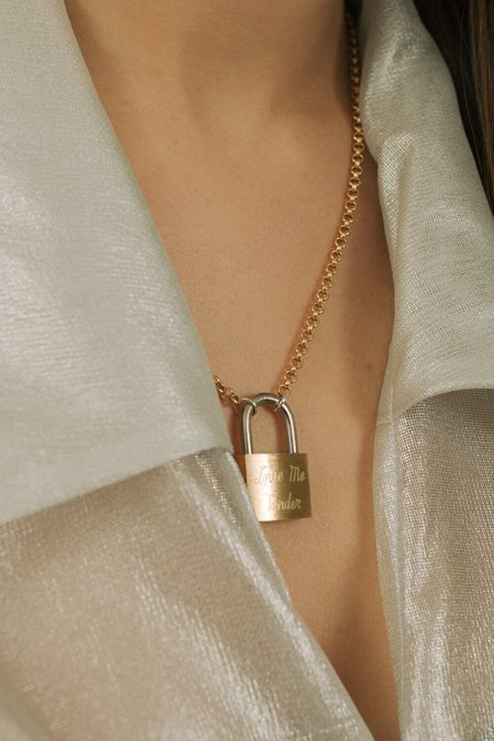 Merewif Tender Necklace - gold plated