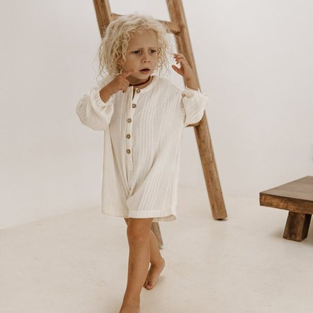 Kids Illoura Husk Romper - Off-White