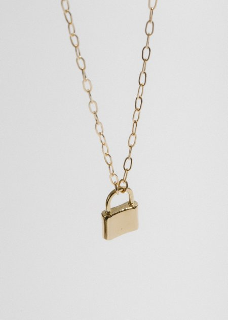Merewif Holmes Padlock Necklace - 14k Plated