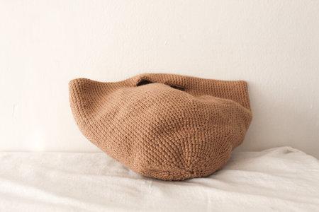 Handmade Mushroom Cap Bag - Sand