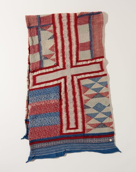 Kapital Patchwork Scarf - Red