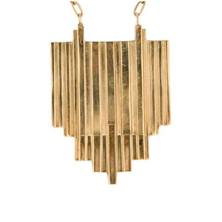 Aesa Chain Opening Pendant Necklace - Bronze