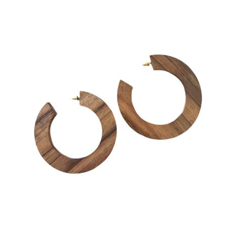 Bembien Gigi Hoops Earing -  Walnut