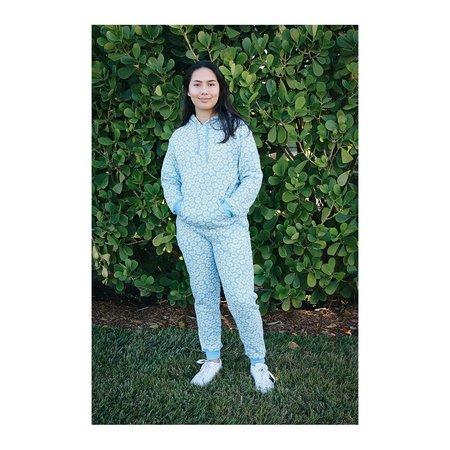 HVN Daisy Printed Sweatpant - Sky Blue