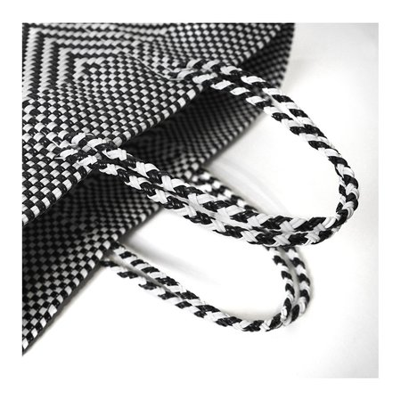 Letra Lg Espiga Mercado Bag - black/white